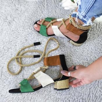 LLOGAI Nice New Summer Wedge Espadrilles Women Sandals Heel Pointed Fish Mouth Sandals Woman Hemp Lace Up Women Platform Sandals
