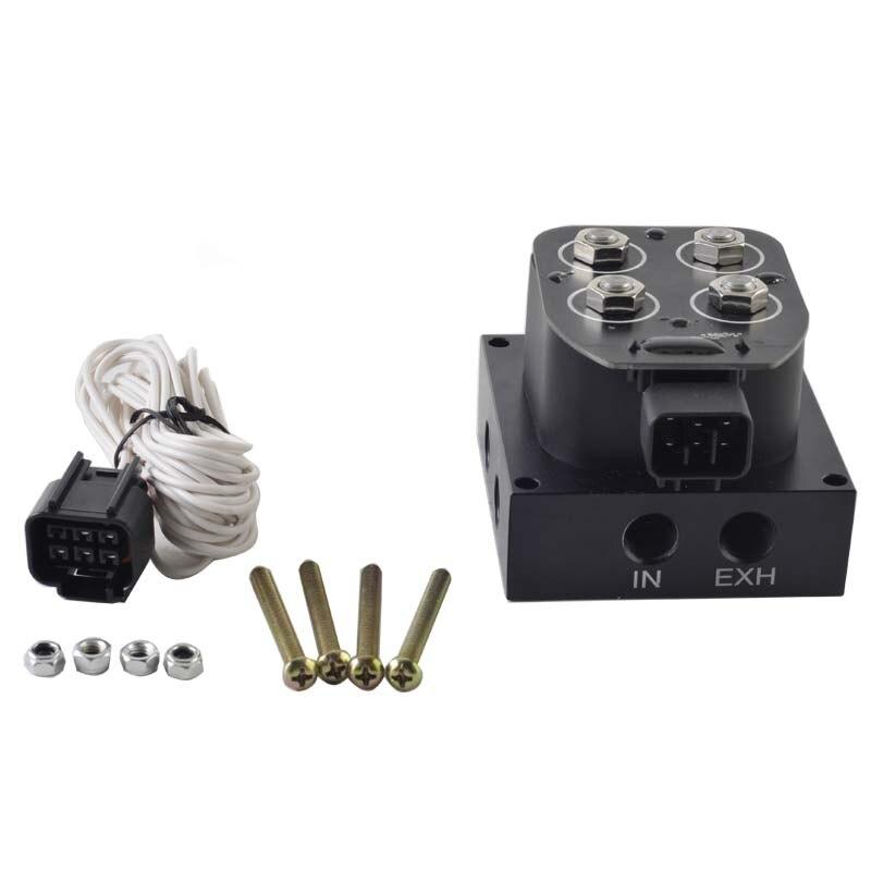 Auto/Motorfiets 12 V Magneetventiel Vering Manifold Ventiel (0-300psi)