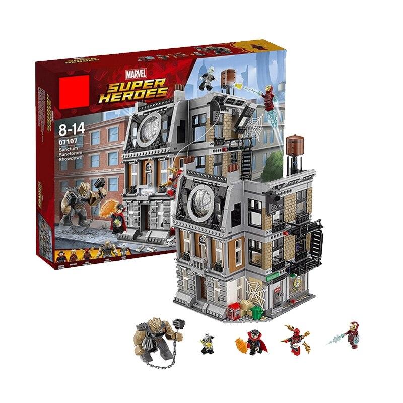 Lepinblocks 07107 Marvel Avengers Infinity War Sanctum Sanctorum Showdown Building Blocks Compatible Legoinglys Toys 76108