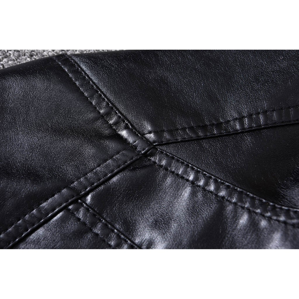 H3778e64c121d4e5fbd3a7fc0d12ffa50q Zipper Closure for Men Leather Jacket Autumn Winter Warm Fur Lining Lapel Leather outerwear layer дубленка мужская кожаная Coat