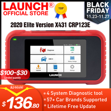 LAUNCH X431 CRP123E OBD2 ENG ABS Airbag SRS en Auto herramienta de diagnóstico código OBDII lector escáner de actualización libre pk CRP123X CRP123