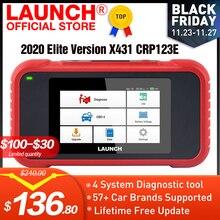 LAUNCH X431 CRP123E OBD2 ENG ABS подушка безопасности SRS на авто диагностический инструмент OBDII считыватель кодов Сканер бесплатное обновление pk CRP123X CRP123