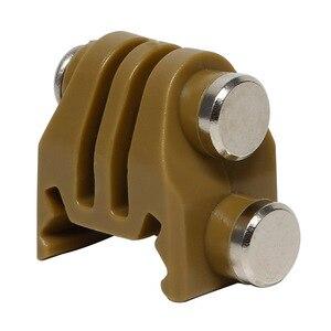 Image 4 - Actie Camera Nylon Rail Mount Vaste Adapter Voor Picatinny Airsoft Rifle Laser Mount Adapter Voor Gopro Eken