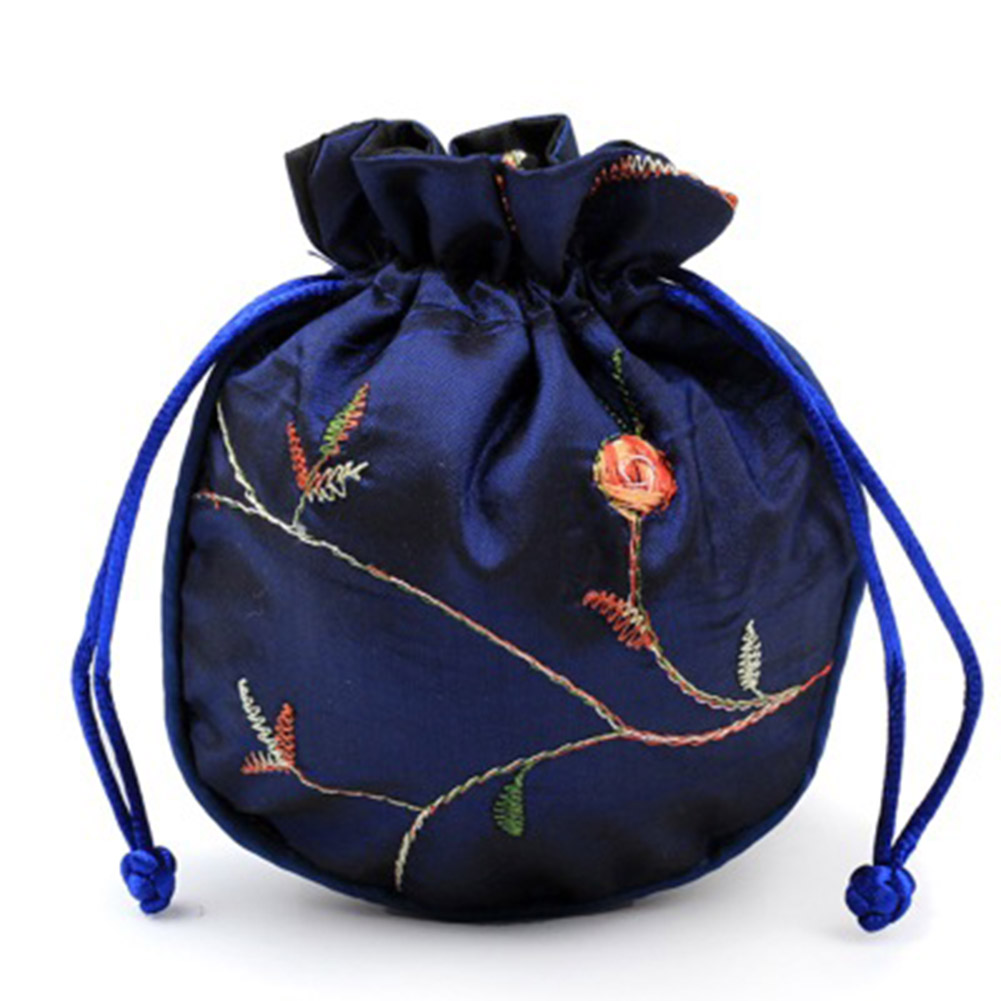 Hot 3Pcs/Set Brocade Jewelry Pouch Bag Kit Drawstring Coin Purse Gift Bags BVN66