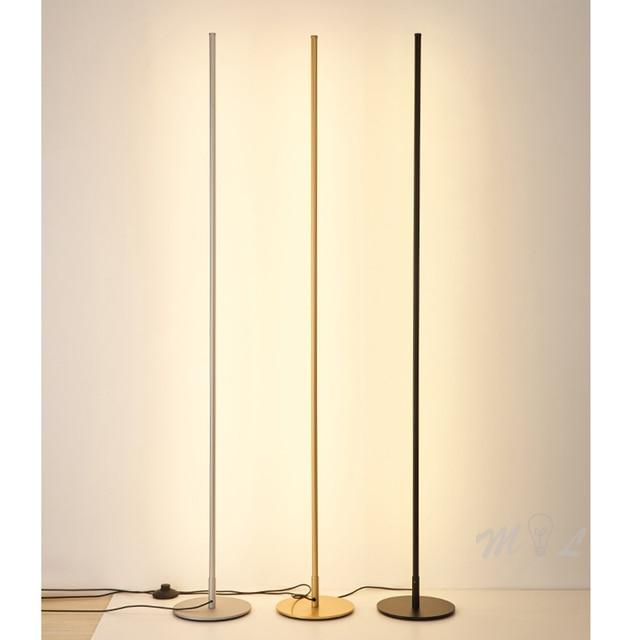 Best Discount Acfc Modern Floor Lamp Minimalist Led Standing Lamp Nordic Gold Floor Lamps For Living Room Bedroom Lamp Study Street Lamp Lambader Cicig Co