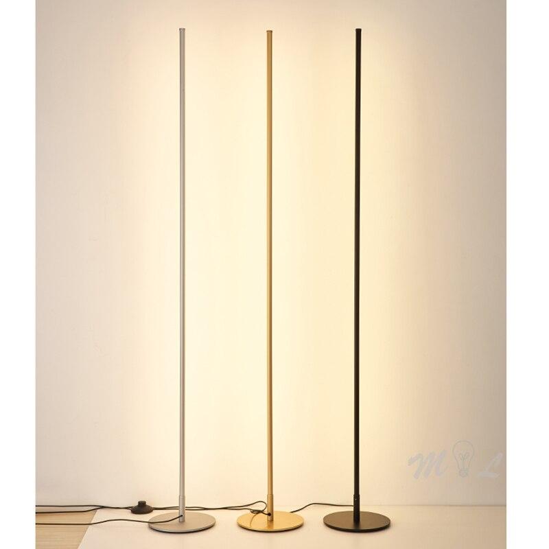 Moderne Boden Lampe Minimalist Led Stehlampe Nordic Gold Boden Lampen für Wohnzimmer Schlafzimmer Lampe Studie Straße Lampe Lambader