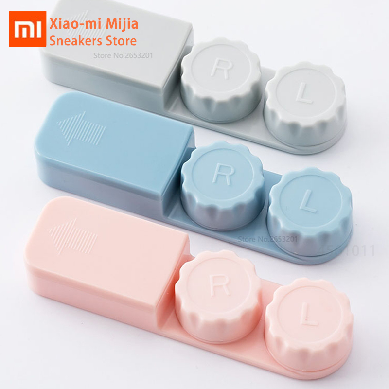 Xiaomi Mijia Contact Lens Box Myopia Glasses Care Portable Double Box Safe Aseptic Compartment Clean Storage Box Smart Home