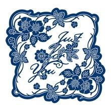 Buy Sweet Briar Flower Frame Metal Cutting Dies Scrapbooking Craft Dies New for 2019 Die Cuts Card Making Stencils Embossing directly from merchant!