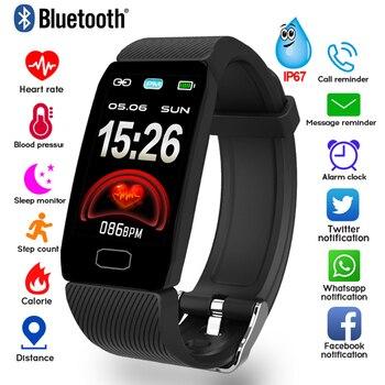 1.14 Smart Band Weather Display Blood Pressure Heart Rate Monitor Fitness Tracker Smart Watch Bracelet Waterproof Men Women Kids 1