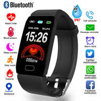 1,14 Smart Band Wetter Display Blutdruck Herz Rate Monitor Fitness Tracker Smart Uhr Armband Wasserdicht Männer Frauen Kinder