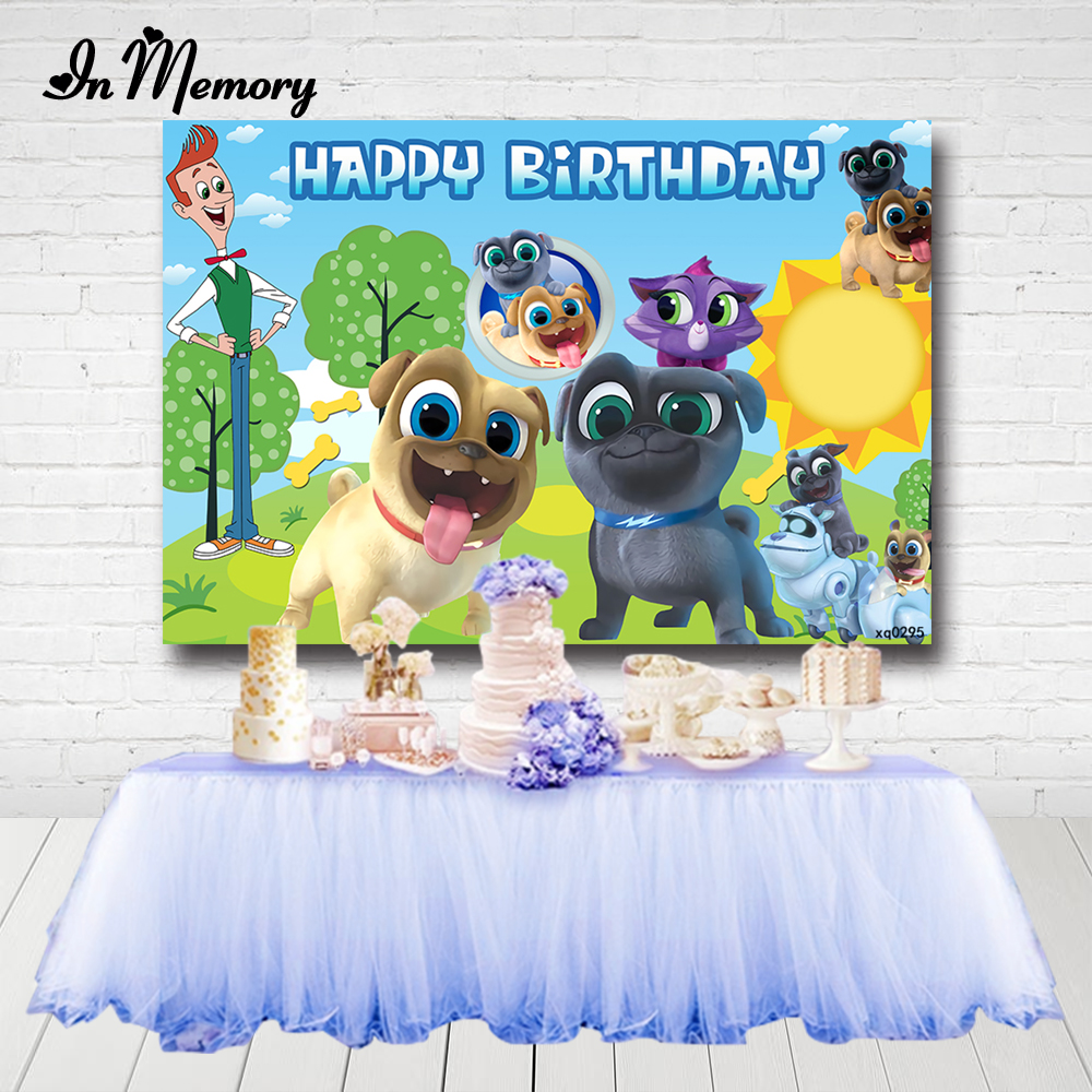 Inmemory 7x5ft Cartoon Photography Backgronds Puppy Dog Pals Bingo Et Rolly Kids Birthday Party Backdrops Custom Supplier Background Aliexpress