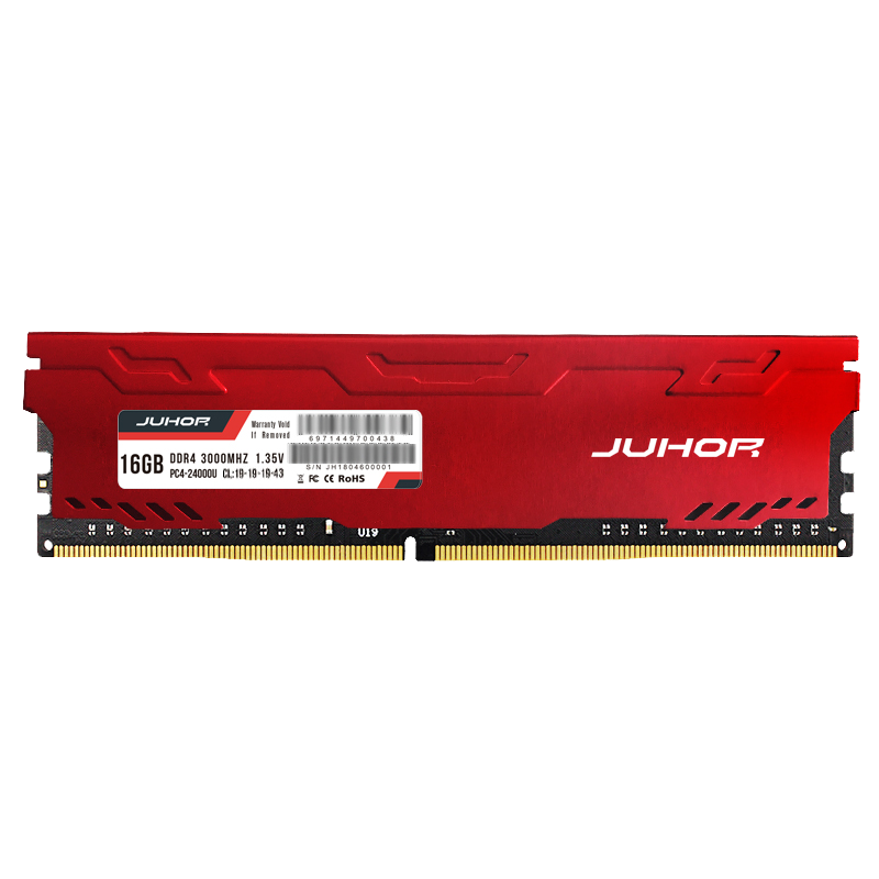 JUHOR Memoria Rams DDR4 8gb 16gb 3000mhz For Gaming Desktop DIMM Memory RAM With Heat Sink Memories Ram
