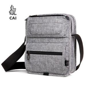 Image 1 - CAI sac à bandoulière multi poches pour tablette, Mini décontracté sacs décole pour adolescents garçons, sacs à main Fashion