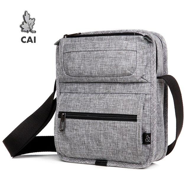 CAI sac à bandoulière multi poches pour tablette, Mini décontracté sacs décole pour adolescents garçons, sacs à main Fashion