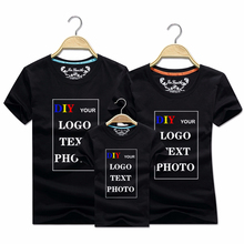 Print T-Shirt Logo Photo Customized White Plus-Size Cotton And S-7XL Top-Tees Tops Your-Text
