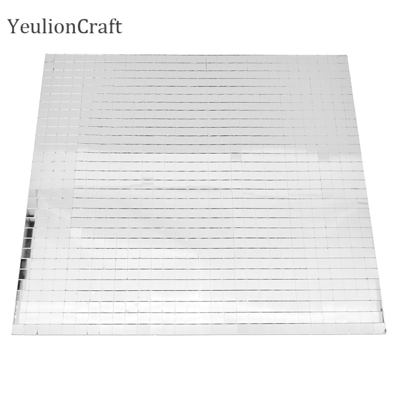 YeulionCraft 30x30cm Mini Self-Adhesive Square Glass Mirror Mosaic Tiles For DIY Wall Handmade Crafts Home Decoration