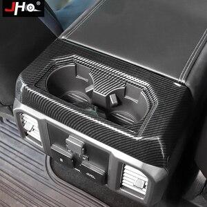 Image 3 - JHO ABS karbon tahıl arka kupası tutucu paneli yerleşimi kapak Trim için Ford F150 2016 2019 2017 Raptor sınırlı 2018 araba aksesuarları