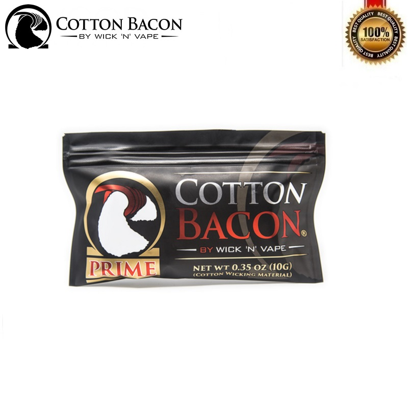 Original Wick N Vape Cotton Bacon Prime for RDA RDTA RTA Tank Rebuild Vape Atomizer Vaporizer Accessory No Chemicals Pesticides image