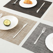 European Style Pvc Woven Coaster Antibacterial and Mildewproof Placemat Non-slip Western Placemat Heat Insulation Table Mat