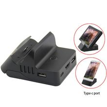 цена на HDMI Charging Dock Station Adjustable Bracket HDMI Video Conversion Charging Charger Base for Nintend Switch Host