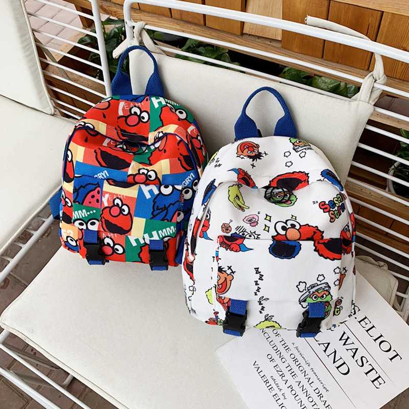 Korean-style Children's Bags Sesame Street Backpack Women's 2019 New Style Cartoon Schoolbag For Elementary School Students Baby