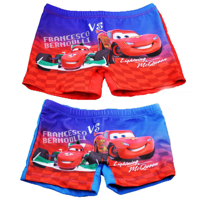 Small Car CHILDREN'S Swimming Trunks/Leveling Feet Swimming Trunks/BOY'S Swimming Trunks Car General Mobilization Kids Swimming