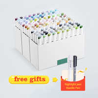 Набор для рисования эскизная ручка, высококачественные маркеры, Набор цветных ручек, алкогольные маркеры с двойным наконечником, finecolour, тов...
