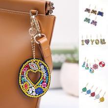 цены new hot sale hing 5Pcs Rhinestone DIY Diamond Painting Keychain Pendant Ornament Butterfly Leaf Bag Decor diamond painting cross