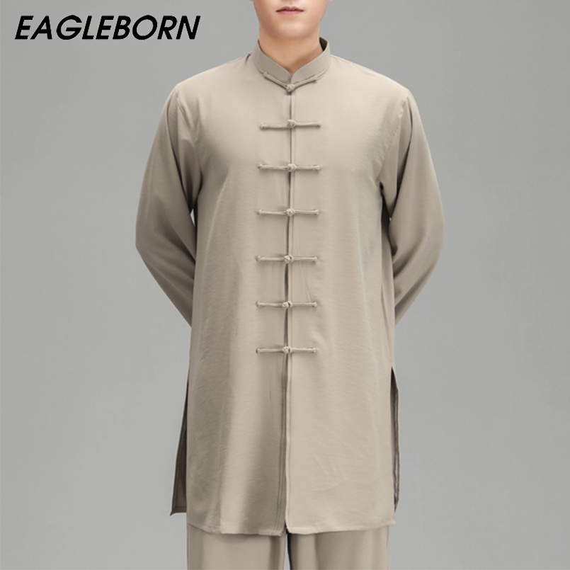 Men Tang Suit Tai Chi Uniform Chinese Dress Set for Women Goden Dragon Suit for Men Tai Chi Costume Traditional Clothing for Men