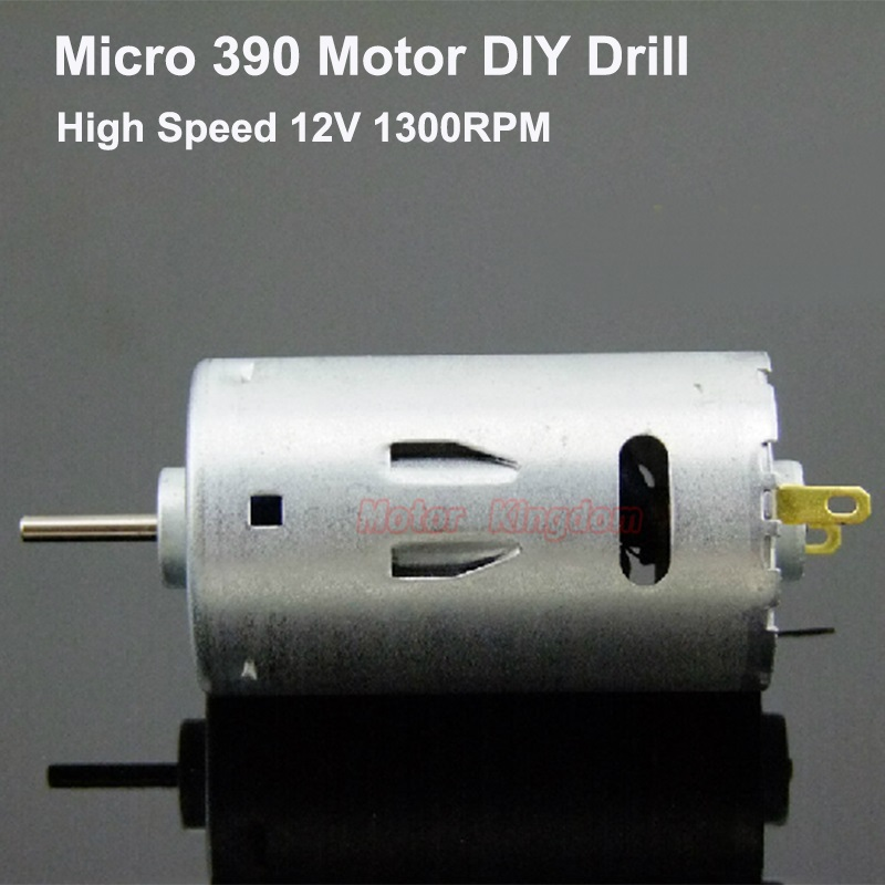 RS-390 Micro DC Electric Motor 6V-24V 12V 13000RPM High Speed  Large Torque Engine 2.3mm Shaft DIY Drill Tool Motor