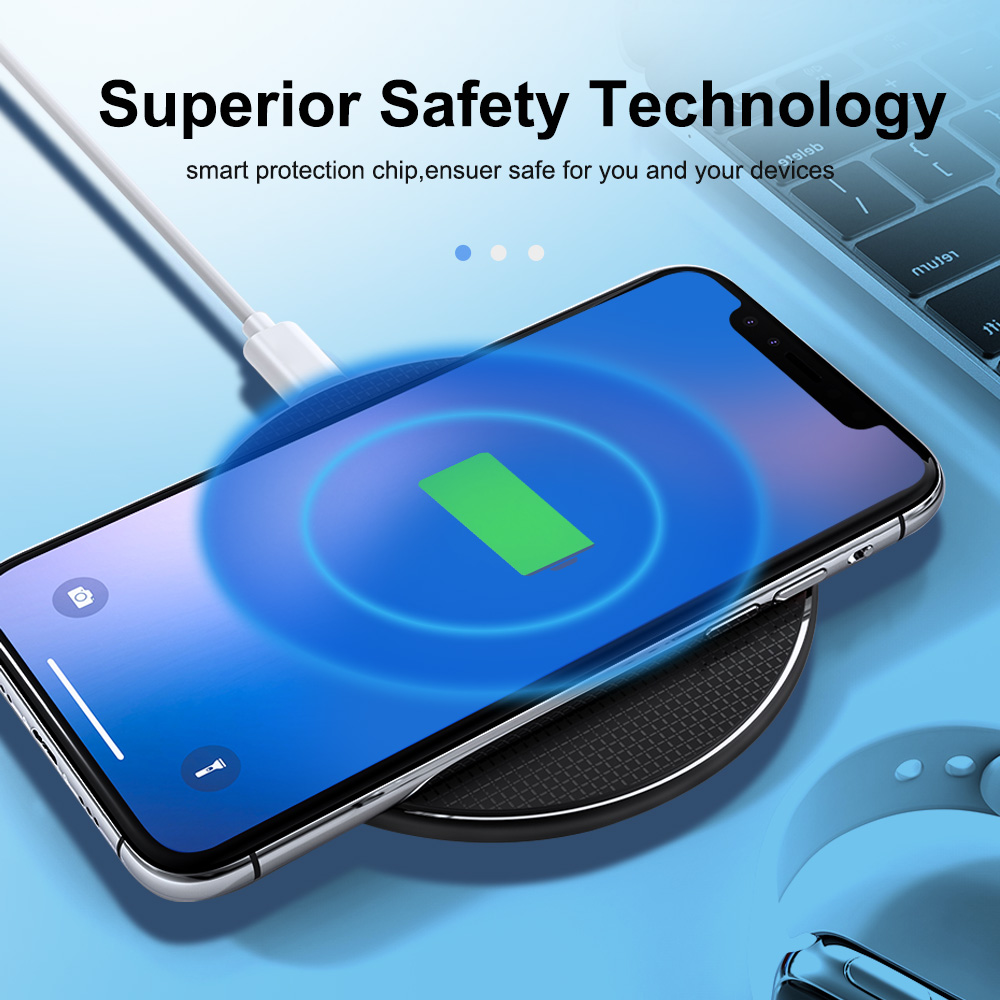 Original Qi Wireless Charger Fast Charge Pad Charging IP 11 X 8 8 Plus for Samsung Galaxy S7//S8//S8 Plus//S9 S10 Note10