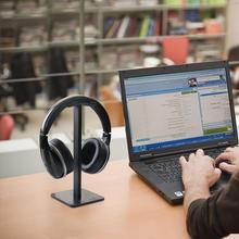 2 kolory słuchawki stojak uniwersalne słuchawki wieszak na słuchawki hak ścienny Monitor do komputera słuchawki wieszak stojący uchwyt Rack akcesoria tanie tanio CN (pochodzenie) 9x9x20cm Headphone Holder Rack Metal