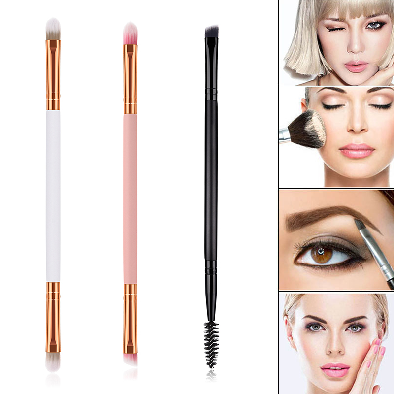Professional Makeup Eye Brush Double Ended Eyeshadow Eyebrow Brush For Women Girls FM88