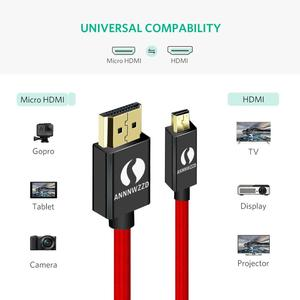 Image 2 - ANNNWZZD Micro HDMI (Tipo D) A HDMI (Tipo A) in oro placcato (Ad Alta Velocità) micro cavo HDMI 1.4a 2.0 Reale 3D e Ethernet in grado