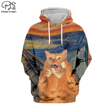 PLstar Cosmos Animal Cat Art Cartoon Harajuku Tracksuit 3D Print Hoodie/Sweatshirt/Jacket/shirts Men Women hiphop casual style-4