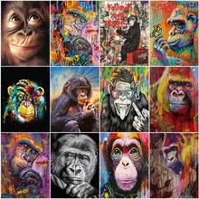 Amtmbs животные обезьяна наборы картина маслом по номерам для