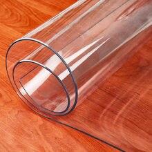 Tapis de Table en PVC Transparent, nappe immanquable à l'huile, avec motif de cuisine, housse de table en tissu doux, 1.0mm