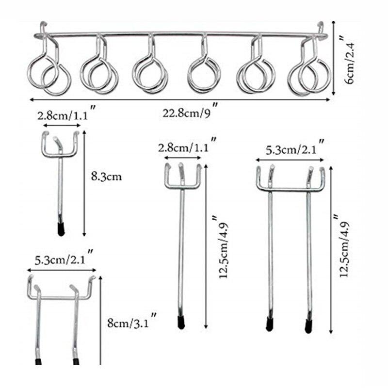81* Mix Pegboard Hooks Assortment Heavy Duty Peg Hook Organization Wall Storage
