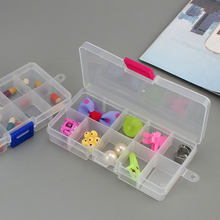 Pilulier organiseur 10 cases, boîte de rangement transparente multifonctions pour bijoux perles