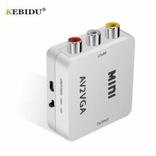 KEBIDU HD MINI VGA TO AV Converter Adapter with 3.5mm Audio VGA to AV Converter For PC to TV HD Computer to TV Top Selling