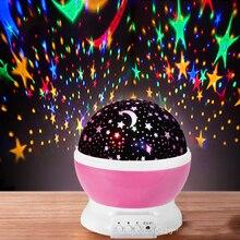 Star Sky Projector LED Galaxy Night Light Starry Lights Rotating Star Moon Night Lamp