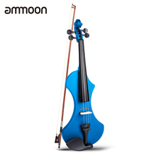 Headphone Electric-Violin Ammoon Brazilwood Stringed-Instruments Full-Size Carrying-Bag