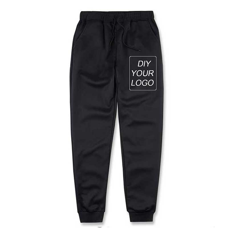 Men Pants Customized Logo Print Hoodies Fitness Casual Long Pants DIY Your Logo Sweatpants Streetwear Joggers Tracksuit Trouser