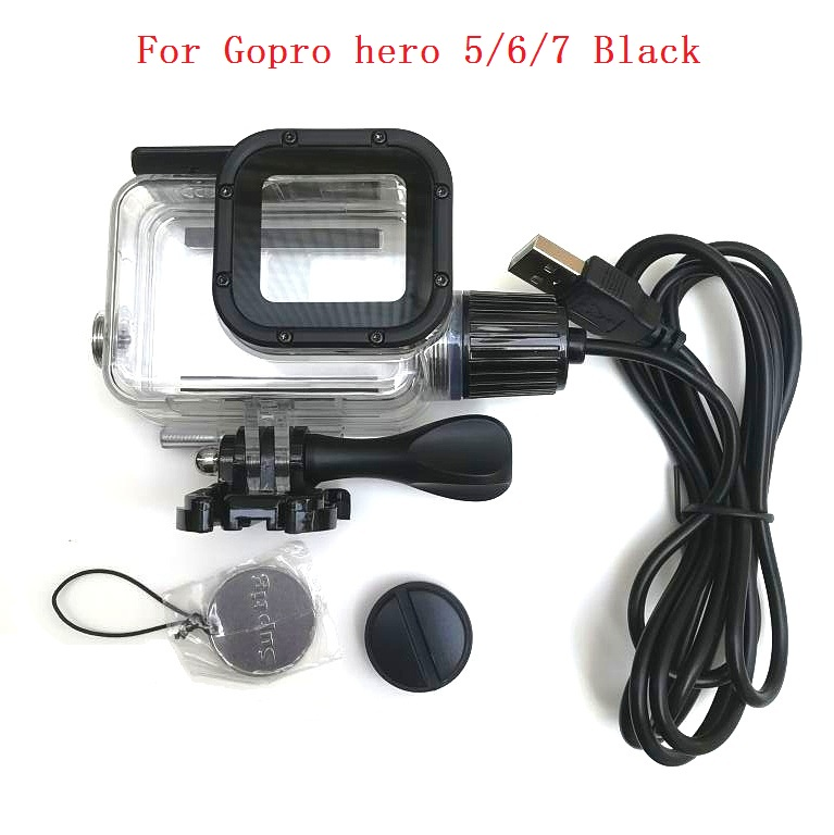 Suptig 5200mAh Waterproof Power Bank Battery Charger Waterproof case for GoPro Hero 8/7/5/4/3 Action Camera SJ8 H9R Charging Box