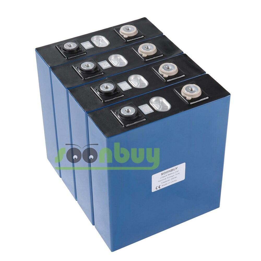 Nouvelle batterie rechargeable Lifepo4 3.2v 200ah 3.2v 12V 200ah batterie adaptée à l'énergie solaire longue durée 3500 Cycles EUUS sans taxe - 2