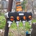 """1/2 """" 3/4"""" 1 """"garten Schlauch Splitter Bewässerung Adapter 4 weg  Wasser Schlauch Anschlüsse EU UNS standard Innengewinde Tippen Anschlüsse-in Garten-Wasser-Anschlüsse aus Heim und Garten bei"""