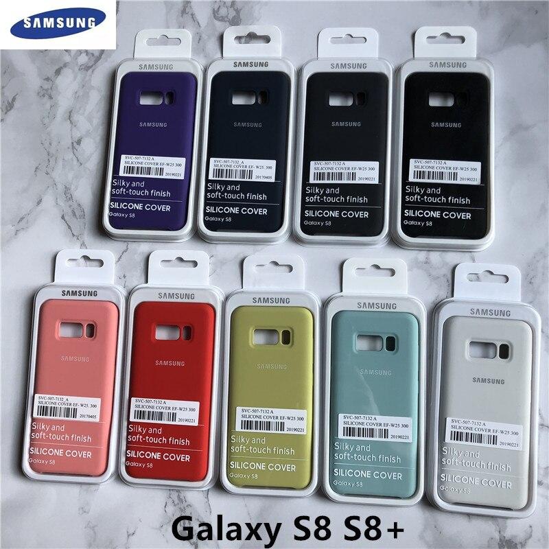 Оригинальный жидкий силиконовый чехол для Samsung Galaxy S8/S8 Plus, шелковистая мягкая задняя защитная крышка для Samsung s8 s8 + упаковка