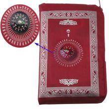 60*100 Bedroom Living Rooms Anti slip Floor Mats Carpet Areas Rug Floor Carpets Rugs Muslim Prayer Rug with Compass Carpet