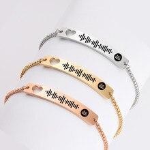 Custom Muziek Spotify Code Armband Voor Vrouwen Mannen Roestvrij Stalen Armband Gepersonaliseerde Lied Code Armband Geschenken Voor Het Nieuwe Jaar