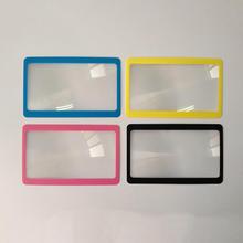 5/10pcs Protable 3X Magnifier Magnification Fresnel Reading Aid Lens Pocket Credit Card Size Transparent Magnifying Glass